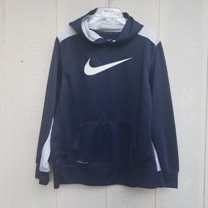 Nike dri fit blue and white hoodie size XL